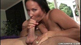 Brunette Joelean loves creampie...