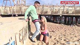 LETSDOEIT - Busty Blondie Fesser...