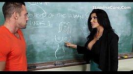 Hot big tits teacher...