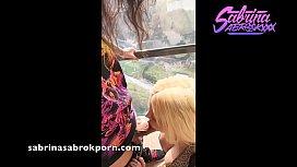 Sabrina Sabrok chupando verga...