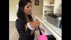 Naughty maid...