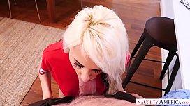 Tube-socks wearing blondie...