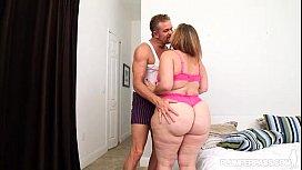 Big Booty BBW Mazzaratie Monica Loves Her Stepfather Tony D shemale ballbusting