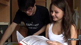 Young Amateur Teen Couple...