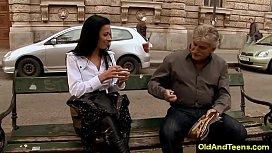 Easter European sexy long leg girl fuck old rich guy