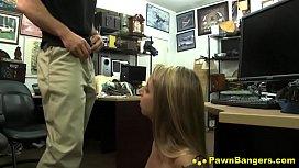Dirty Blonde Slut Gets...