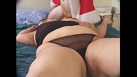 Fat woman slammed hard...