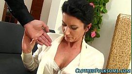 Elegant Lady Takes Facial