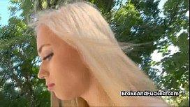 Broke blonde loves my...