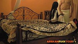 Black amateur African babe...