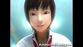 3D Japanese Schoolgirl Handjob...