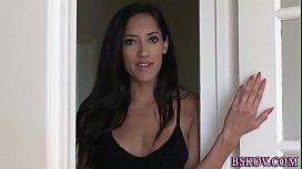 Chloe Amour sucking cock...