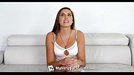 MyVeryFirstTime - Natasha Novo takes two dicks for the first time like a champ