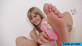 Bella Anne oiled feet...