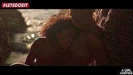 Hot Teens enjoy lesbian SEX by the beach (Luna Corazon & Cecilia Scott)