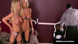 Hot Blonde Babes Nikki...
