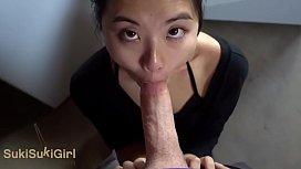 Asian Cocksucker Does Her Chores Sukisukigirl Green Eyes WMAF POV BLOWJOB