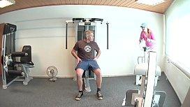 Im Fitnessraum die geile...