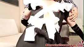 Japanese cosplay newhalf railed...