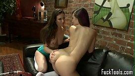 Toy lesbians spread legs...