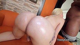 Bikini tranny banged by...