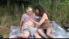 Outdoor Mature Couple Sex...