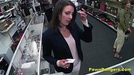 Cheeky Shop Owner Bangs...
