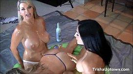 Trisha Uptown Gets Oiled...