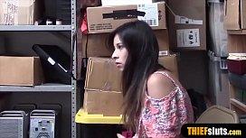Hot Latina Teen Shoplifter Busted And Gets Fucked Hard