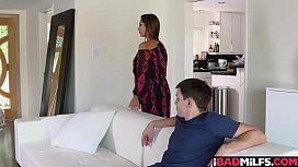 Hot mom teaches stepson...
