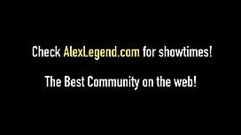 Hot Babe Alessandra Noir Swallows Big Load From Alex Legend!