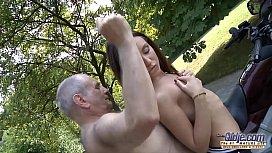 Grandpa fucks young pussy...