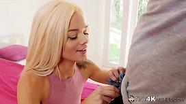 Tiny Blonde Spinner Elsa...