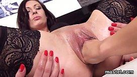 Nasty czech girl spreads her soft hole to the strange