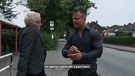 HITZEFREI Big tit German MILF picked up and fucked hard