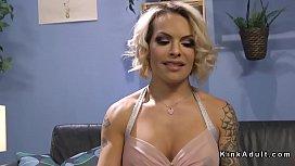 Blonde tranny anal fucks...