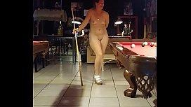 Sexy Shar Shoots Pool...