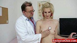 Slim blonde Mia Hilton...