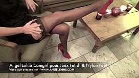 Fetish nylon pieds jambes...