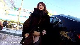 Katrin Porto - Flashing In Car And Shopping Nude