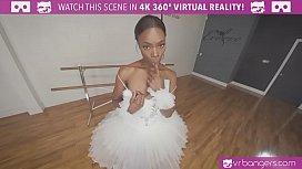 Sexy Ebony Ballerina gets...