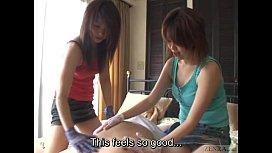 Subtitled CFNM Japanese gloved...