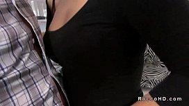 Hot brunette Scarlet A...