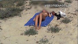 Teen nudist at beach...