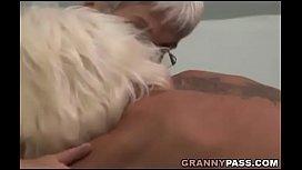Hairy Granny Tries Lesbian...