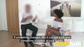Fake Agent Ebony Brazilian...