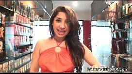 Gorgeous Latin babe gets that pierced