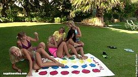 Twister Orgy lesbian group...