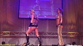 Flexi lesbian milf show...