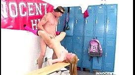 Blonde schoolgirl getting hardcore...